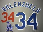 LOS ANGELES DODGERS Number KIT Authentic ROAD GRAY JERSEY With TEAM PATCH on Ebay