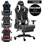 GTFORCE FORMULA RX RACING RECLINING LEATHER SPORTS GAMING FOOTREST OFFICE CHAIR