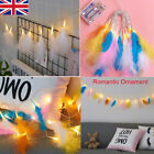 Led  Feather Fairy String Lights Battery Wedding Christmas Party Home Diy Decor