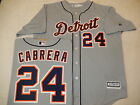 999 MENS MAJESTIC Detroit Tigers MIGUEL CABRERA Baseball Cool Base JERSEY GRAY