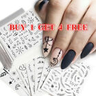 Nail Water Decals Transfer Stickers Flower Leaf Geometry Nail Art Decoration DIY