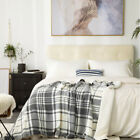 Bedsure Soft Lightweight Plaid Sherpa Throw Blanket Fleece Blanket for Couch image
