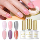BORN PRETTY 6ml Gel Nail Polish Pink Semi-transparent Soak Off Nail Gel Varnish