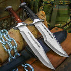 "15"" FULL TANG FIXED BLADE SURVIVAL FISHING HUNTING CAMPING BOWIE KNIFE"