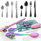 Creative Stainless Steel Knife Fork Spoon Colourful Iridescent Cutlery Sets New