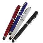 For iPhone4 5S 6SPLUS.4in1 LED Laser Pointer Torch Touch Screen Stylus Ball Pen.