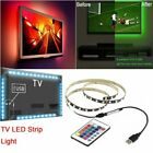 1M-5M 5V USB 5050 RGB LED Strip Light Bar TV Back Lighting Kit + Remote Control