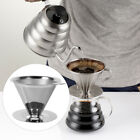 Home Stainless Steel Pour Over Cone Dripper Reusable Coffee Filter Cup Stand