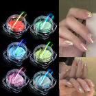6 Colors Ice Transparent Fashion Mirror Powder 0.2g UV Gel Pigment Nails Salon