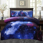 Galaxy Comforter Set Reversible Quilt Sky Outer Space Bedding Sets Twin/Full  image