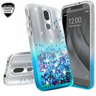 For Coolpad Legacy Case Liquid Glitter Bling Soft Phone Cover +Tempered Glass