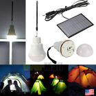 Lot 15W LED Solar Lights Panel Bulb Indoor Outdoor Camping Tent Emergency Lamps