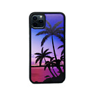 For Apple iPhone XR/XS/X/8/7 Plus Real Wood Wooden Fit Case Cover-Palm Trees 2