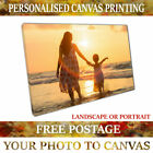 YOUR PHOTO on CANVAS PERSONALISED PRINT 20MM DEEP FRAMES FREE DELIVERY