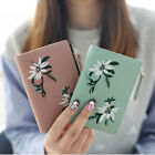 Women Girl Small Mini Embroidery Wallet Zip Leather Coin Card Holder Money Purse image