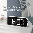 Smart Electronic Alarm Clock Voice Control Large LED Display Snooze Backlinght