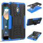 For Nokia 2V Phone Case Dual-layer Built-in Kickstand Protective Cover