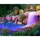 Drill Diamond Painting Kit Like Cross Stitch Nice Garden Pool Waterfall ZY181A $36.76 USD on eBay