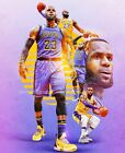 LeBron James Los Angeles Lakers NBA 23 Art Poster Wall Art16x20 20x30 on eBay