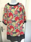 * URBAN BEHAVIOUR * NAVY RED & LIME GREEN DRESS / TUNIC * SIZE 10 * EX COND *