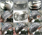 2019 Hot !!!New Tibetan Tibet Silver Totem Bangle Cuff Bracelet 9 style image