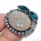 Real CHINESS DEVIL JASPER HANDMADE Solid Sterling Silver Ring Size 6.5 AK1001