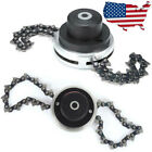 2pcs Coil 65Mn Chain or 1pc Lawn Mower Trimmer Head For Brushcutter Garden Grass