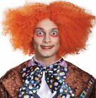 Mad Hatter Costume Wig Adult Alice in Wonderland Looking Glass Red Hair - Fast -