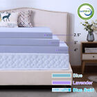 2.5''/3''/4'' Comfort Gel Memory Foam Mattress Topper Dot- Queen King Twin Full  image