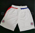 Los Angeles Clippers mens Basketball Shorts white pants NEW!!free shipping