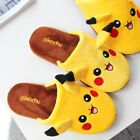 Pokemon Pikachu Soft Plush Warm Slippers Unisex Winter Home Indoor Shoes