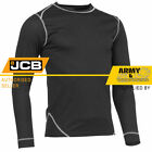 JCB MENS BASE LAYER ACTIVE THERMAL BASELAYER SHIRT WORK WARM TOP SPORT ACTIVE