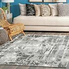 nuLOOM Contemporary Margot Strained Abstract Area Rug in Gray