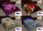 2 Ply Animal & Floral Blanket Reversible King Size Plush Soft Mink NEW image
