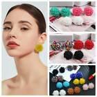 Fashion Women Elegant Seed Bicone Colorful Beads Ear Stud Earrings Jewelry Gifts