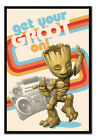 FRAMED Guardians Of The Galaxy Get Your Groot On Poster Officially Licensed