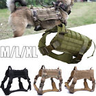 Military Tactical Training K9 Dog Harness Adjustable Nylon Vest Police Dog M/L, used for sale  Shipping to Canada