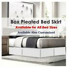 Hotel Quality Tailored Pleated Bed Skirt/Dust Ruffle 1 Qty 12 Inch Pocket Drop image