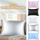 Pure Mulberry Silk anti-age Pillowcase Luxurious 25 Momme 7 colors Queen US image