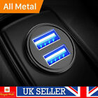 12v 4.8a Car Fast Charger Double Usb Twin 2 Port Dual Cigarette Socket Lighter