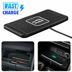 Qi Wireless Fast Phone Charger USB Car SUV Dashboard Holder Mount Non-Slip Pad