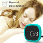 Digital Alarm Clock LED Display Pocket Silicone Voice-activated Snooze Clock_p