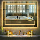 LED Light Bathroom Wall Mount Mirror Anti Fog Memory Touch Button Vanity Mirror