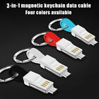 Keychain 3 In 1 Magnetic Portable USB Cable For Walton Primo D8i