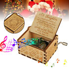 wooden music box mom dad to daughter you are my sunshine engraved toy kid gift
