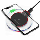 Qi Wireless Charger Charging Pad for iPhone 11/Pro/Max/XS/8/Galaxy Note 10/S10/+