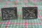Vintage Estate  Swank Silvertone FLY FISHING Themed CUFFLINKS