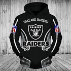 Oakland Raiders Sweatshirts Hoodie Pullover  Fans Nfl Sweater Football Men $50.63 CAD on eBay