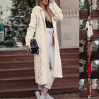 Women's Long Sleeve Open Front Long Maxi Cardigan Longline Duster Coat Outwear