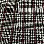 Luxury Wool Blend TWEED Fabric Material - T44 Prince Of Wales TWEED PINK